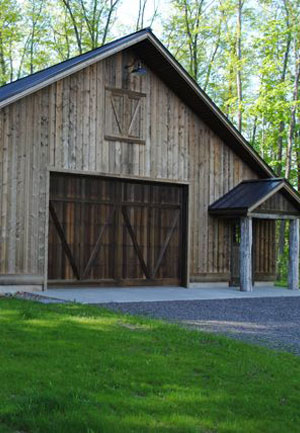 Barn with wood stained with Lifetime Wood Preservative