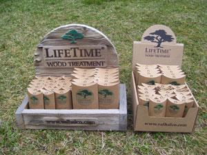 LifeTime® Wood Treatment display boxes